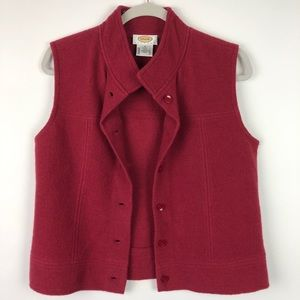 Talbots Petites 100% Wool Button Down Vest
